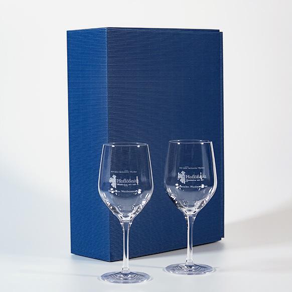 Geschenkpackung mit 2 Weingläsern